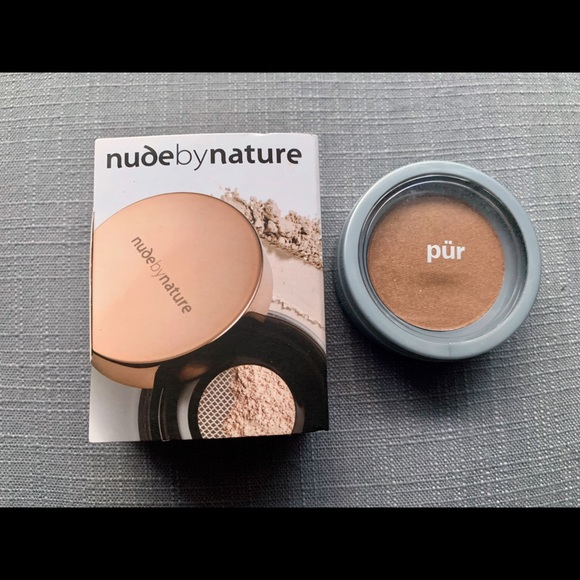 NWT nude by nature loose powder+ Pur minerals Glow